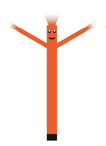 בובת דנסר רוקדת בגובה 6 מטר - צבע כתום