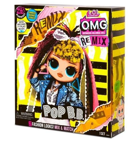 לול רמיקס LOL OMG REMIX - בובת אופנה עם 25 הפתעות ומוזיקה POP B.B