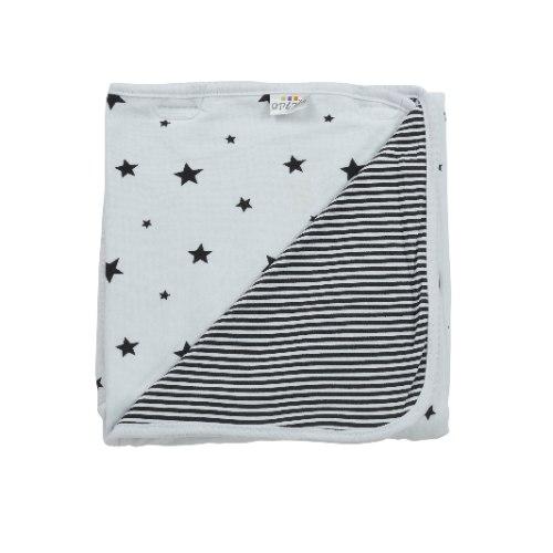 שמיכת כוכבים לבן-שחור