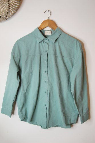 חולצה מכופתרת טומי ירוק
