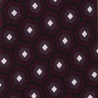 עניבה סגולה דגם משושים גדולים סימטרים