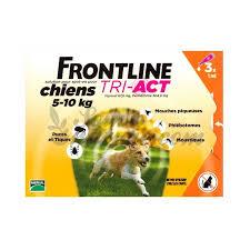 פרונטליין טרי-אקט עד 5-10 ק״ג 3 אמפולות לכלבים