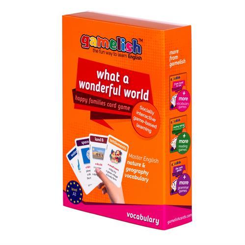 משחק רביעיות באנגלית gamelish | איזה עולם נפלא  What a wonderful world