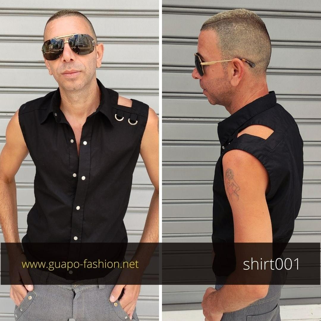 חולצה שחורה לגבר