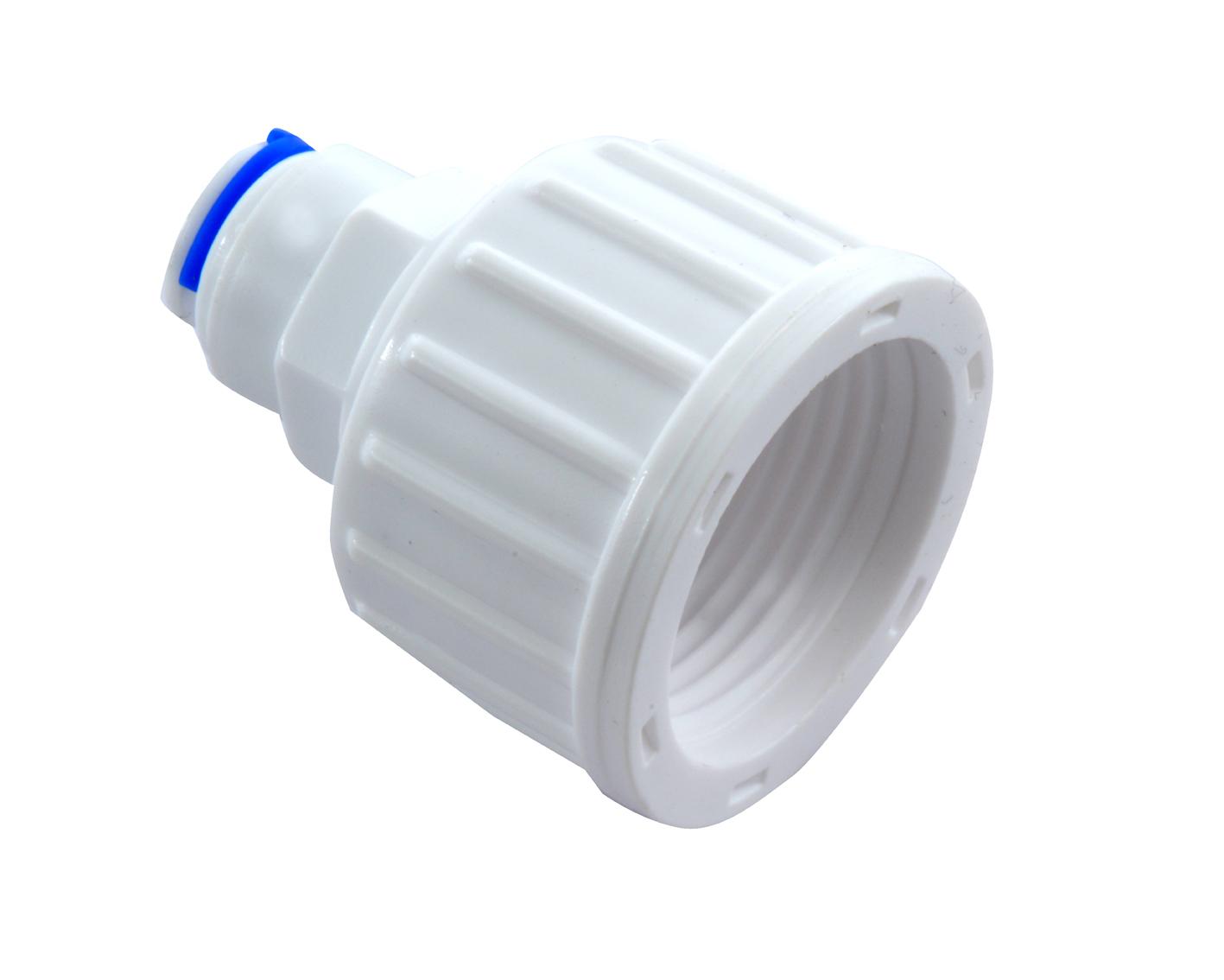 מחבר בין ברז מים 3/4 לצינור 8 ממ - מתאים לצינור תמי4