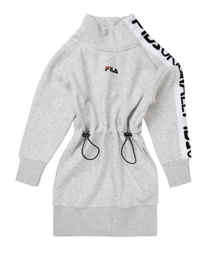 שמלת פוטר כיווצים אפורה FILA - מידות 4 עד 16 שנים