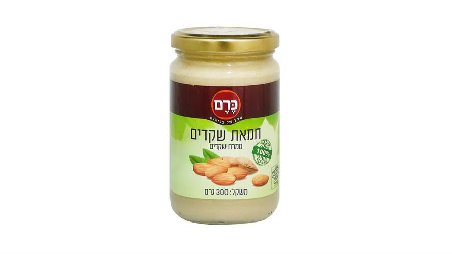 חמאת שקדים 100% טבעי 300 גרם