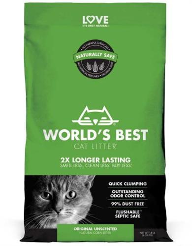 חול לחתול וורלד בסט ירוק