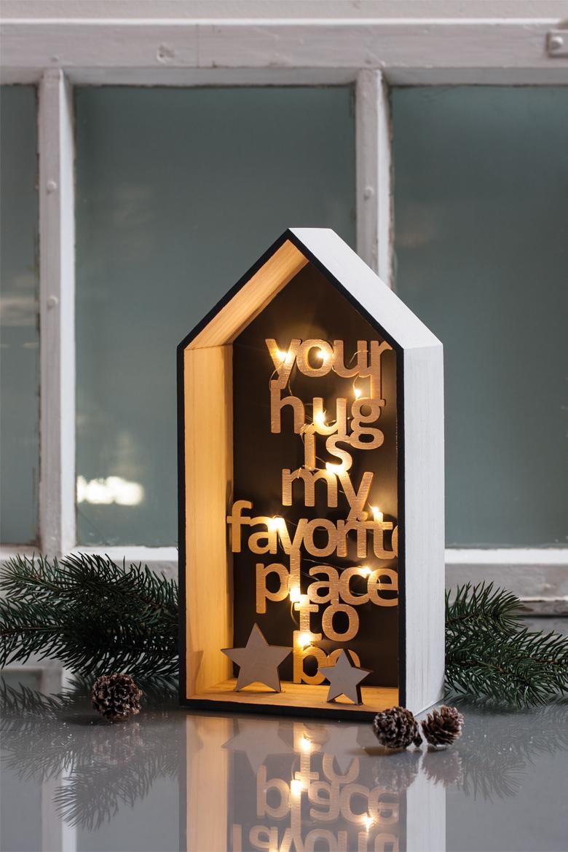 שלט מעץ ליצירה - YOUR HUG