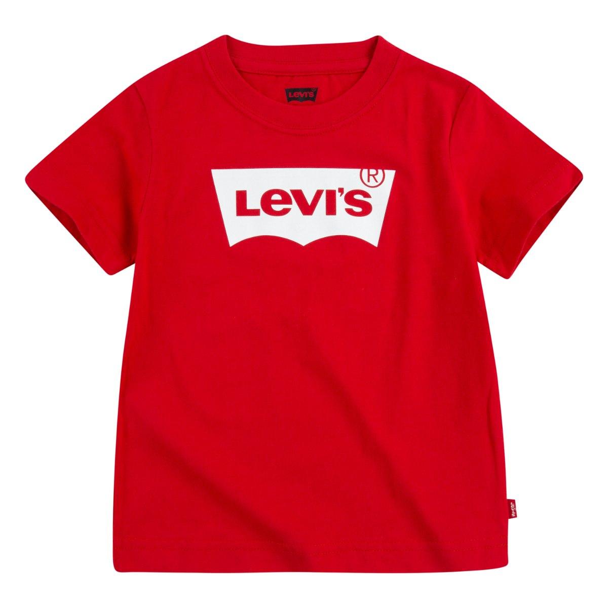 טי שירט אדומה לוגו LEVIS לבן - 1-7 שנים