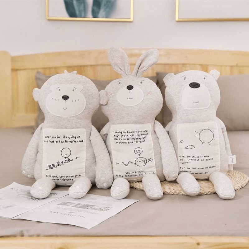 """בובת כותנה """"חברי הטוב""""- קוף/ארנב/דוב"""
