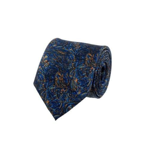 עניבה פיקאסו כחול בהיר - כתום