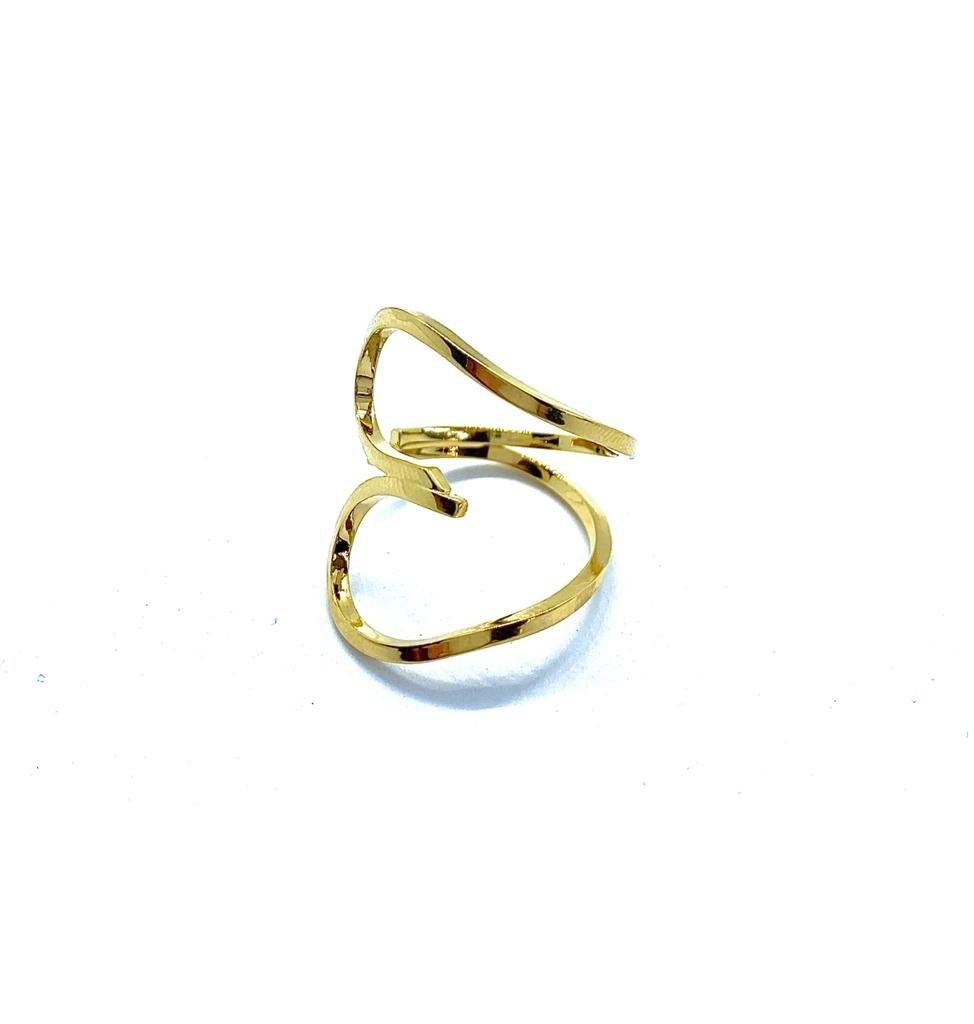 טבעת לב מרוח זהב