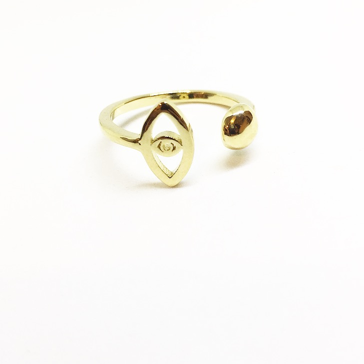 טבעת עין פתוחה זהב
