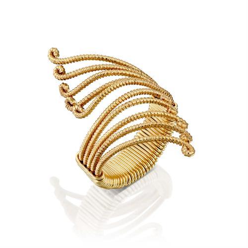 טבעת משי פרפר צהוב