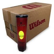 קרטון כדורי טניס - 72 כדורים Wilson Team W Practice