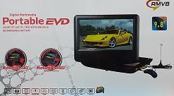 נגן DVD נייד נטען 9.8 עם טלוויזיה רדיו ומשחקים