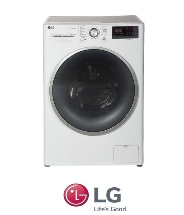 "LG מכונת כביסה 8 ק""ג + מייבש 5 ק""ג  דגם F-0805CW מתצוגה !"