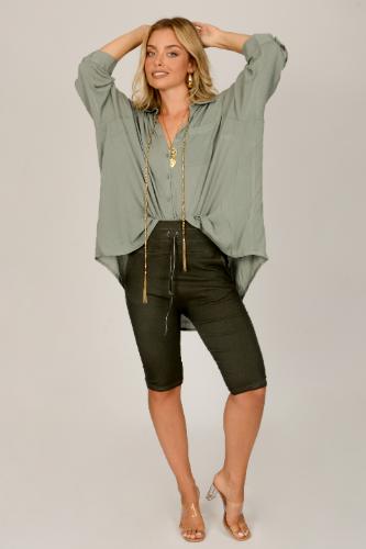 חולצת אוברסייז קרולין ירוקה