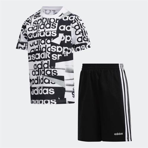 חליפת ספורט ADIDAS שחור לבן בנים - מידות 2 עד 18 שנים