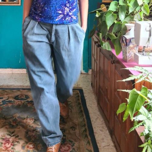 ג'ינס טורקיזי מדליק L/XL