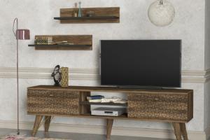 מזנון יחידת TV ו2 מדפים תואמים דגם טסה