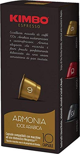 10 קפסולות תואמות נספרסו קימבו הרמוניה - KIMBO Armonia