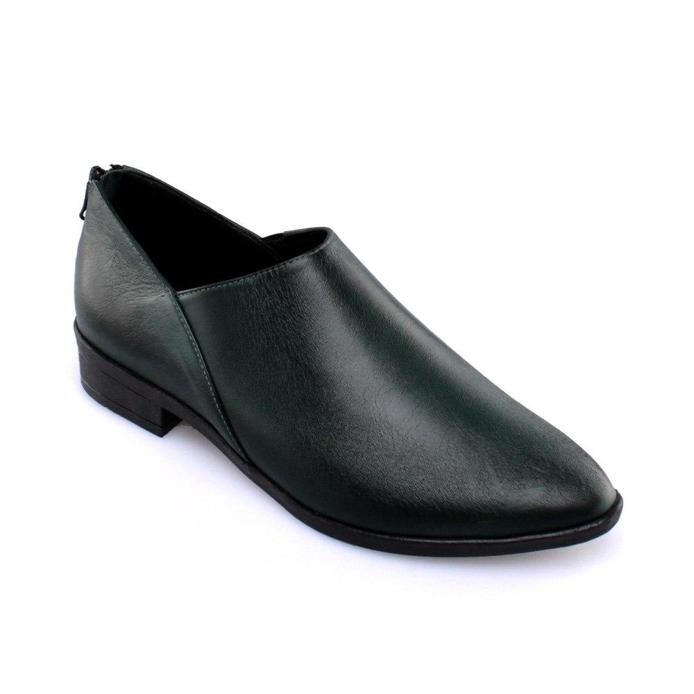 נעל עור פררה - ירוק