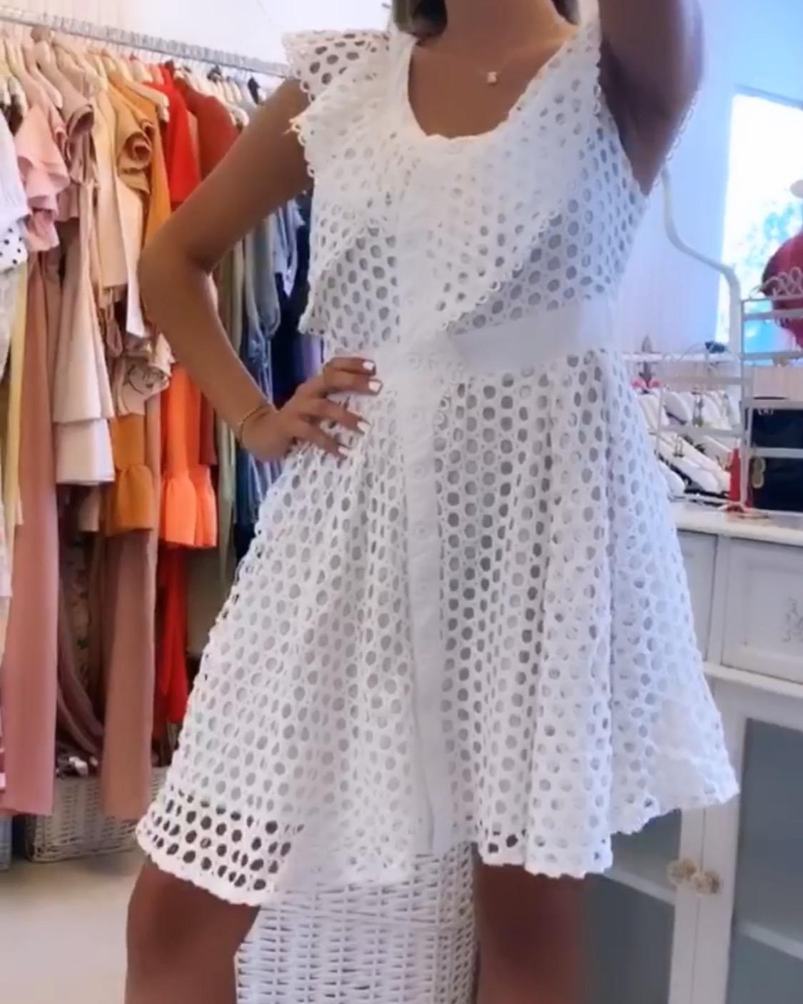 שמלת רשת יוניק