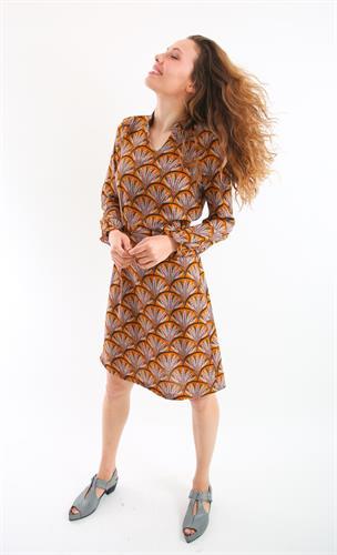 שמלת סיתונית חרדל.