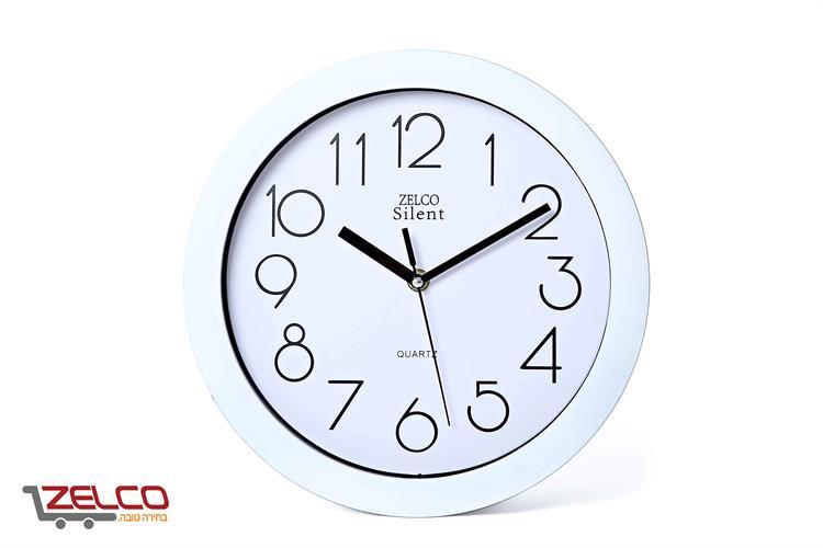 שעון קיר עגול צבע לבן