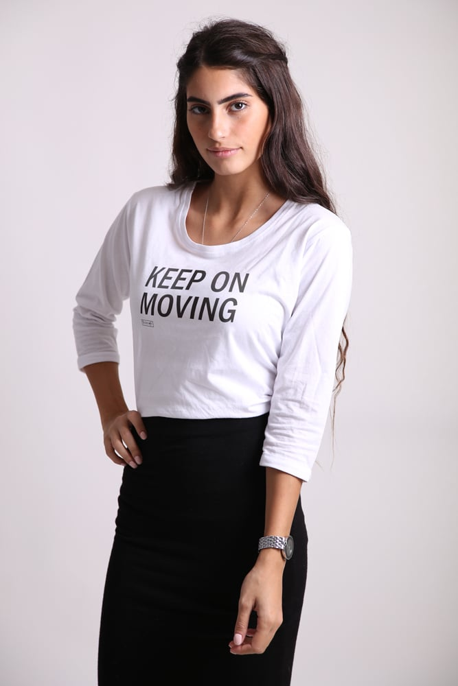 Keep on moving שרוול 3/4