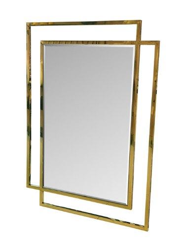 מראה מסגרת נירוסטה ADAGIO GOLD מפתח הפריט: 195418  בצבע: זהב מידות: 110X80