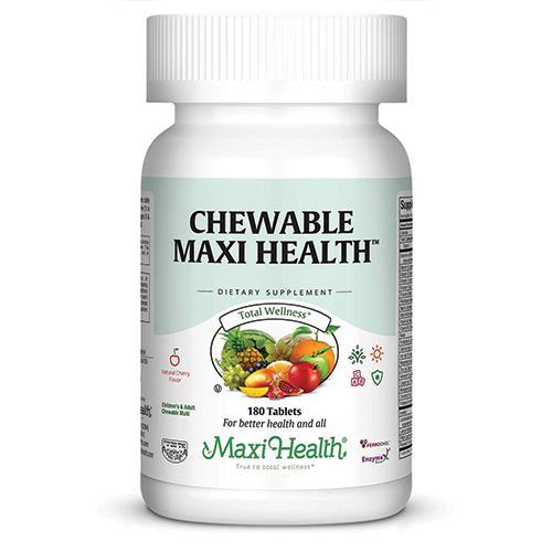 עותק של -- מולטי ויטמין ללעיסה-לילדים -- Maxi Health, מכיל 90 טבליות ללעיסה