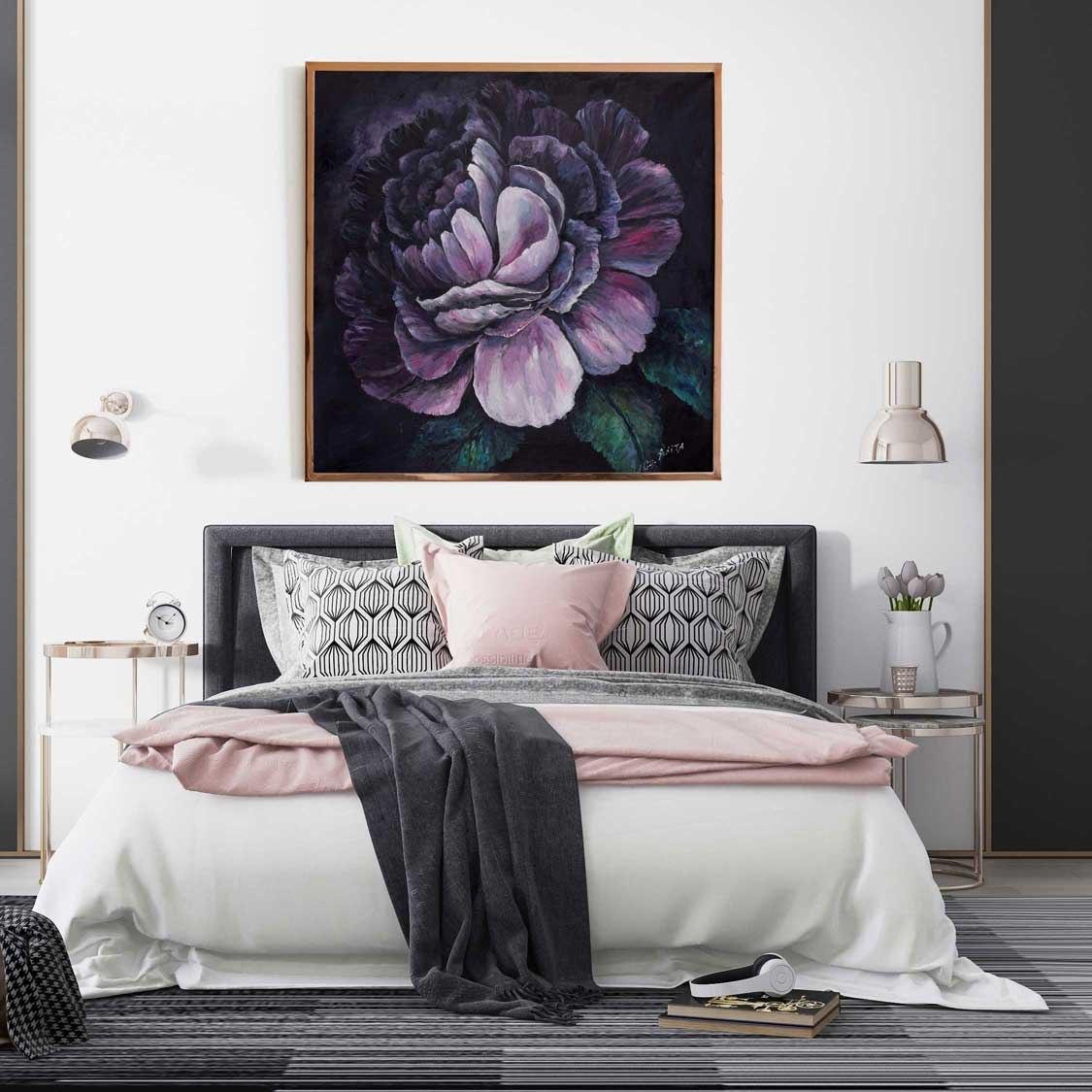 הדפס על קנבס פרח סגול