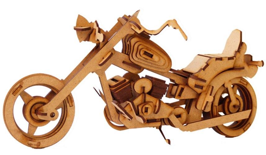 ערכת בנייה בעץ וצביעה - אופנוע
