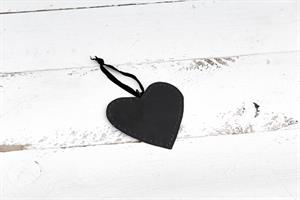 לב שטוח ממתכת -שחור (גודל S)