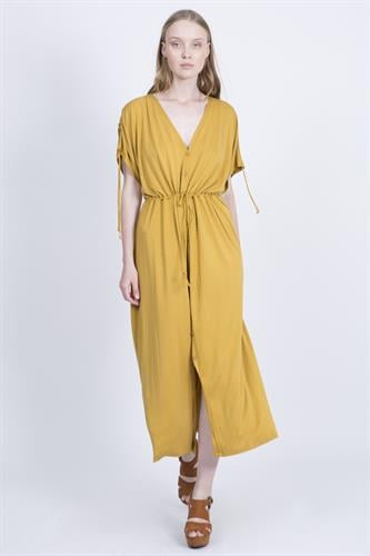 שמלת אנדריאה חרדל