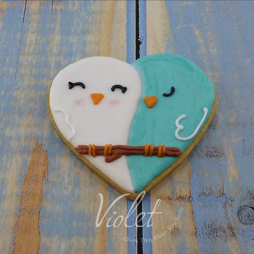 עוגית לב ציפורים