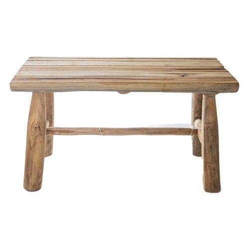 ספסל עץ טיק L