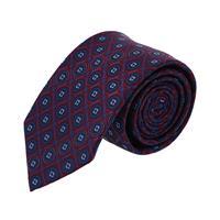 עניבה פרחים משולב כחול בורדו
