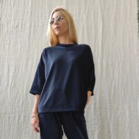 חולצת ZORA - קטיפה כחולה