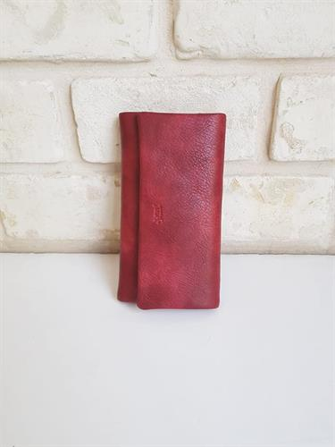 ארנק דמוי עור בינוני אדום 4021