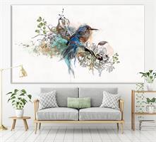 ציפור כחולה ציור מקורי