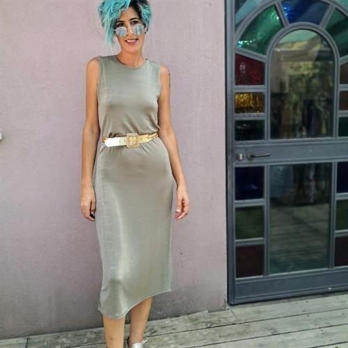 שמלה יפהפייה שנות ה-80 מידה M/L