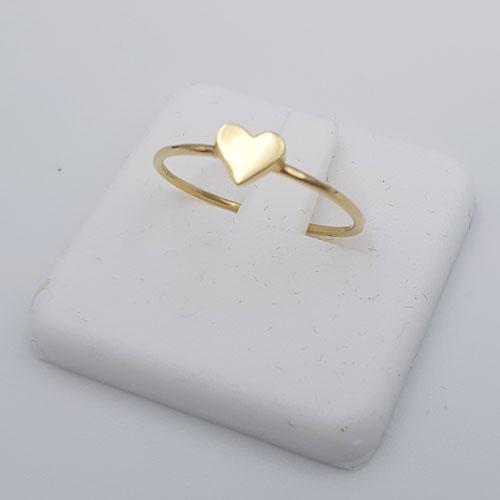 טבעת זהב 14K לב