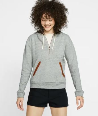 HURLEY TWO FACED FLEECE HALF ZIP