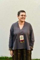 חולצה עליונה מדגם פאני מבד פרנץ׳ טרי בצבע פלדה