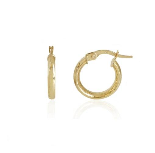 """עגילי חישוק קטנים בינוני 1.6 ס""""מ זהב"""
