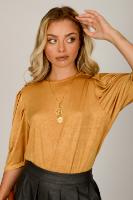 חולצת מישל  שחור/חרדל